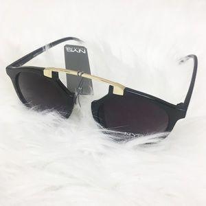 NYS Collection   Black/Purple Cat Eye Sunglasses